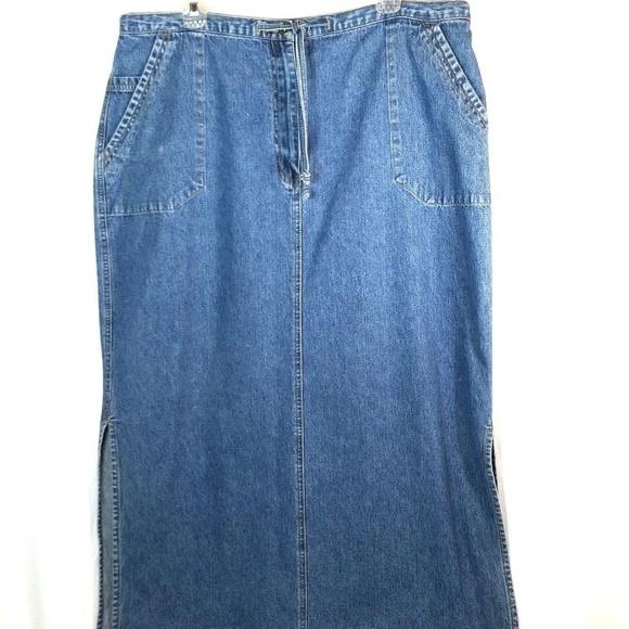 e19a989735 LA Blues Skirts | Denim Skirt Plus Size Long Modest Maxi | Poshmark